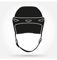 Silhouette symbol of Classic Goalkeeper Ice Hockey vector image vector image