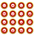 smiles icons set simple style vector image vector image