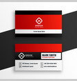 stylish modern red business card template design vector image vector image