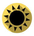 sun sign flat black icon vector image