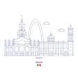 tijuana city skyline vector image vector image