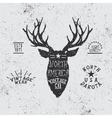 Vintage label with deer head vector image vector image