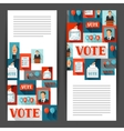 Vote political elections banners Backgrounds for vector image