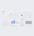 web ui kit mobile application and web page vector image vector image