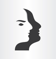stylized man face abstract design icon vector image