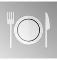 Restaurant halftone stylized sign vector image