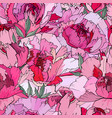 seamless floral decorative pattern with red and vector image
