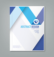 abstract blue line design background template vector image