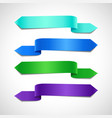 azure green and purple decorative banners vector image