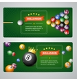 Billiards Baners Set vector image