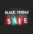 black friday sale over shopping bags background vector image vector image