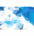 blue white geometric rumpled triangular low poly vector image vector image
