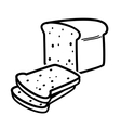 bread loaf vector image vector image