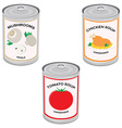 Canned food vector image