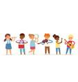 cartoon musician kids for vector image vector image