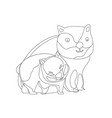 concept of happy family for coloring wild animals vector image