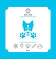 dog paw - logo symbol protect sign vector image