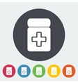 Drug flat icon vector image vector image