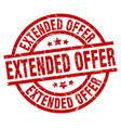 extended offer round red grunge stamp vector image vector image