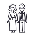 familywoman and man line icon sign vector image