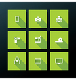 flat media icon set vector image vector image