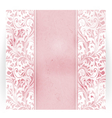 Floral distressed invitation card vector image vector image
