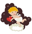funny cupid stealing hearts vector image