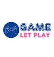 game let play joystick circle frame background vec vector image vector image
