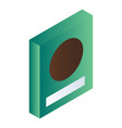 green cereals box icon isometric style vector image vector image