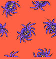 halloween seamless pattern with cartoon gigantic vector image
