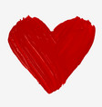 hand painted with brush isolated big red heart vector image vector image