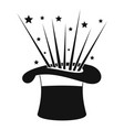 hat and firework icon simple style vector image