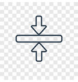 horizontal merge concept linear icon isolated on vector image
