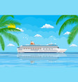 landscape of islands and beach vector image vector image