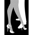 legs of woman and man dancing tango legs of woman vector image vector image
