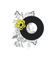 letter o with handmade font and floral decoration vector image vector image