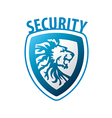 logo shield in the form of a lion vector image vector image