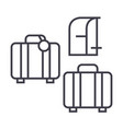 luggage line icon sign on vector image