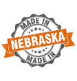made in nebraska round seal vector image vector image