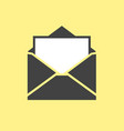 mail icon opened envelope vector image vector image