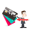 Man with Credit Cards vector image vector image