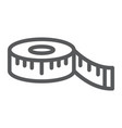 measuring tape line icon measurement and meter vector image