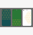mobile phone case design abstract decorative vector image vector image