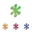 Molecule sign Colorfull applique vector image vector image