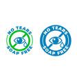 no tears formula soap free shampoo icon kids and vector image vector image