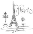 One line sketch eiffel tower in paris