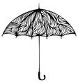 Ornate umbrella vector image