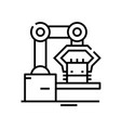 plant machines line icon concept sign outline vector image vector image