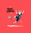 play football concept vector image