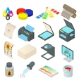 Printing icons set simple style vector image vector image